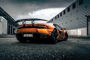 Prior Lamborghini Huracan Rear Wallpaper