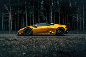 Prior Lamborghini Huracan Side View Wallpaper