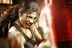 Priyanka Chopra In Mary Kom Movie Wallpaper