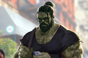 Professor Hulk Man Bun Wallpaper