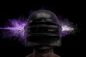 PUBG Game Helmet Guy 4k
