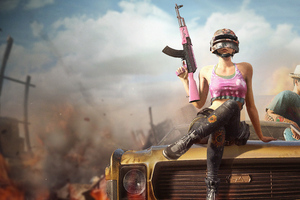 Pubg Girl With Gun 4k 2019 Wallpaper