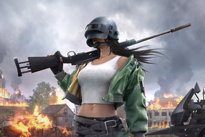 Pubg Helmet Girl 4k 2020 Wallpaper