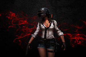 PUBG Helmet Girl Wallpaper