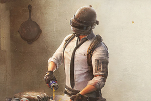 Pubg Helmet Guy Cooking