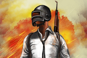 Pubg Helmet Guy Sketch Art Wallpaper
