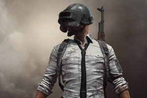 PUBG Helmet Man Wallpaper