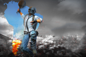 PUBG Helmet Man With Pan 4k Wallpaper