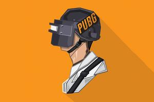 Pubg Helmet Minimal 4k Wallpaper
