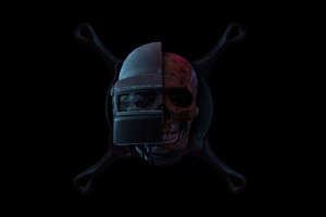 Pubg Helmet Skull Wallpaper