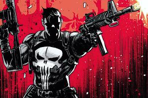 Punisher Red Fanart 4k Wallpaper