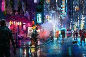Punk Night Street 4k Wallpaper