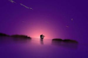 Purple Dome Boat 4k