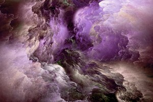 Purple Glowing Clouds Abstract 5k