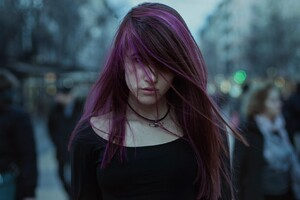 Purple Hairs Girl
