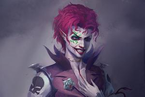 Purple Joker Hair
