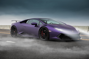 Purple Lamborghini 5k Wallpaper