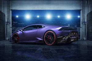 Purple Lamborghini Huracan 4k 2019