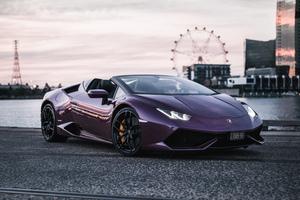 Purple Lamborghini Huracan 5k Wallpaper