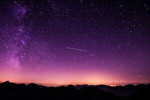 Purple Night Sky 5k