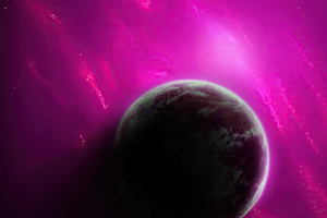 Purple Planet 4k Wallpaper