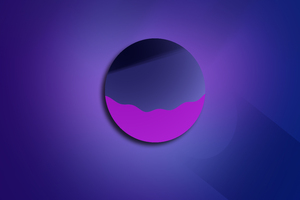 Purple Planet 5k Wallpaper