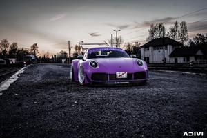 Purple Porsche Car Wallpaper