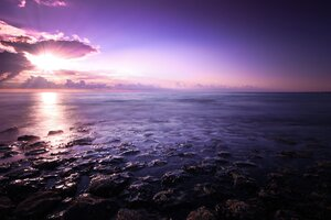 Purple Seascape Wallpaper