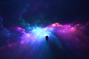 Purple Space Passage Wallpaper