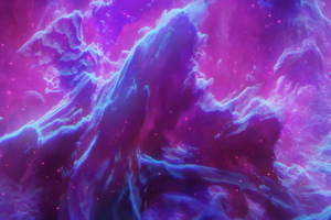 Purple Space Stars 8k