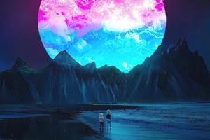 Purple Supernova Wallpaper