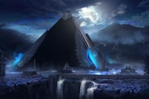 Pyramid Artwork Wallpaper