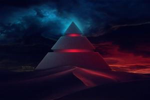 Pyramid Digital Art 4k Wallpaper