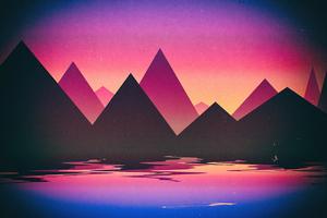 Pyramid Outrun 5k Wallpaper