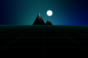 Pyramid Synthwave Minimal 8k Wallpaper
