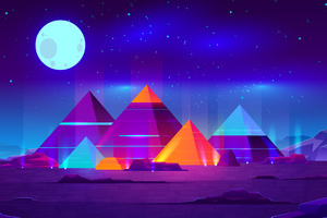 Pyramids Minimalist 4k