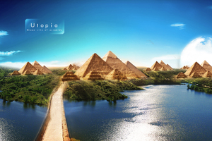 Pyramids Of Utpoia Beautiful Scenery