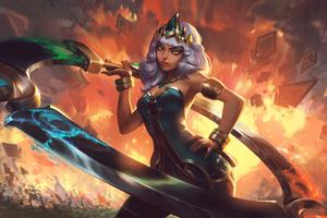 Qiyana League Of Legends Art 4k