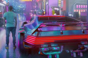 Quadra V Tech Cyberpunk 2077 Car 4k Wallpaper