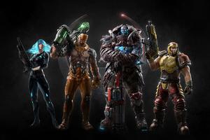 Quake Champions All Characters Wallpaper