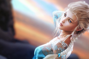 Queen Elsa Fantasy Art Wallpaper