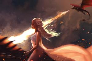 Queen Mother Of Dragons Wallpaper