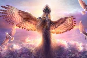 Queen Of Birds 4k Wallpaper