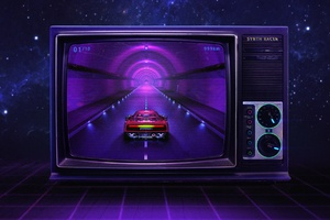 Racing Car Tv Synthwave