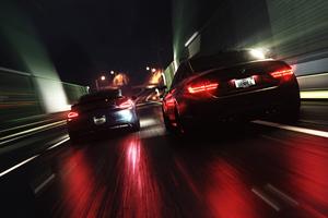 Racing Cars Wrapped Dark 4k Wallpaper