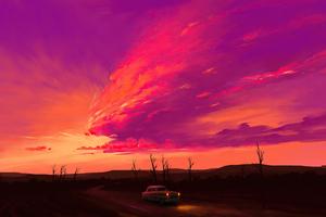 Radiant Sunset 4k Wallpaper