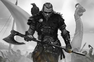 Ragnar Lothbrok Assassins Creed Valhalla Cosplay Wallpaper