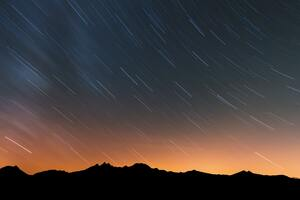 Rain Of Stars Over Swiss Alps 5k Wallpaper
