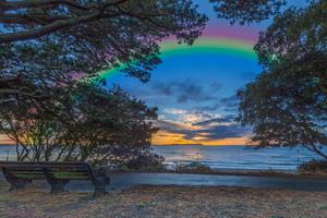 Rainbow Over the Lake Wallpaper