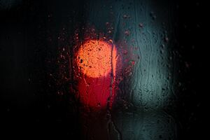 Raining Night Drops Macro 5k Wallpaper